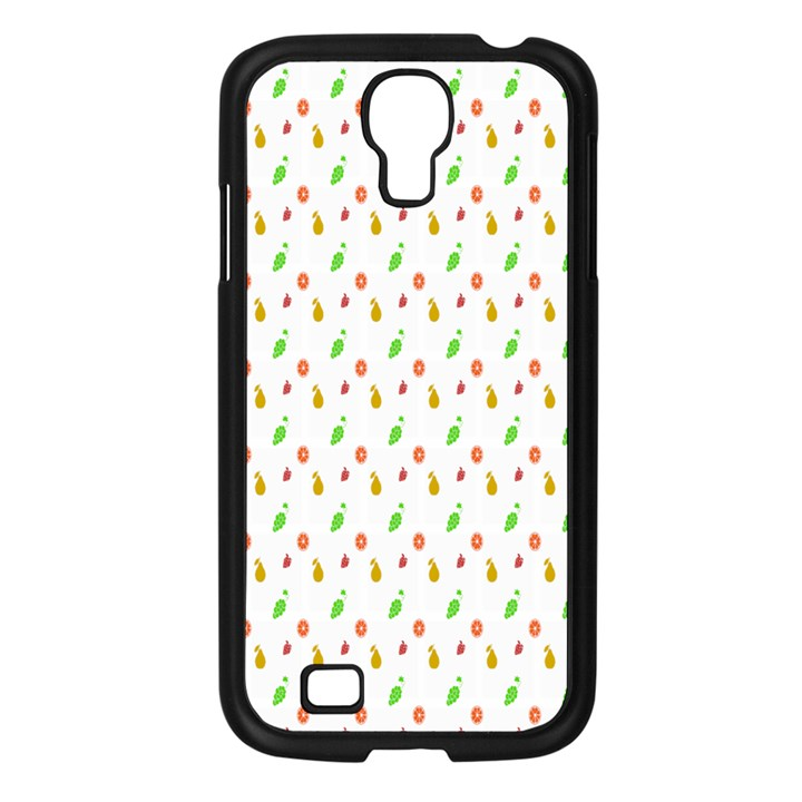 Fruit Pattern Vector Background Samsung Galaxy S4 I9500/ I9505 Case (Black)