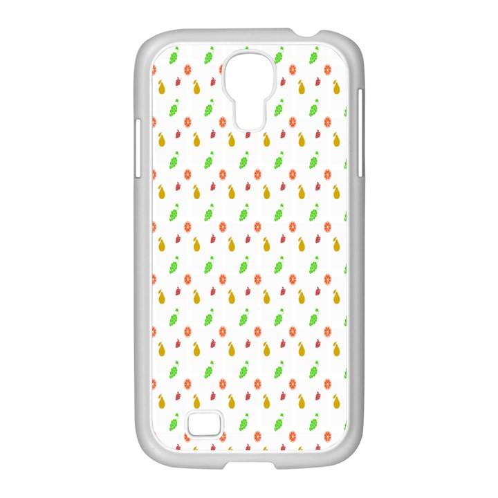 Fruit Pattern Vector Background Samsung GALAXY S4 I9500/ I9505 Case (White)