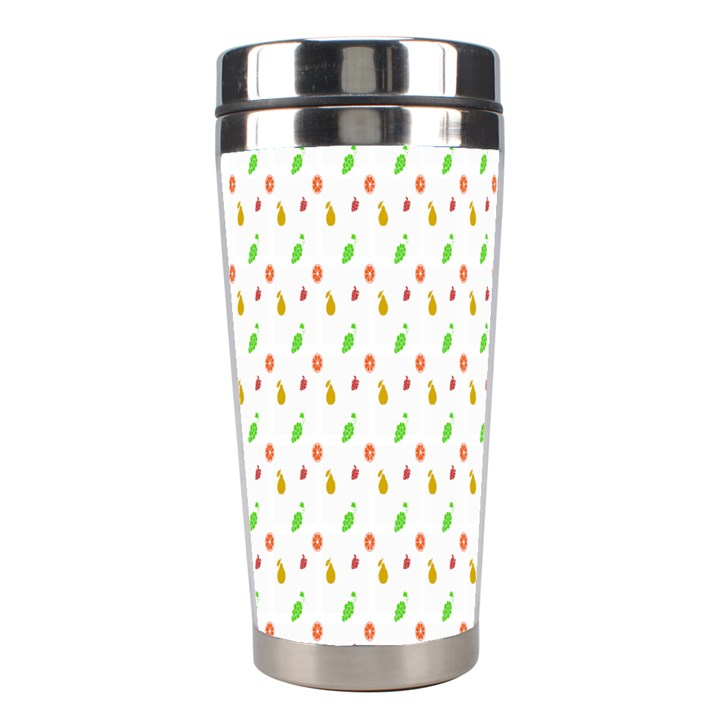 Fruit Pattern Vector Background Stainless Steel Travel Tumblers