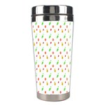 Fruit Pattern Vector Background Stainless Steel Travel Tumblers Right