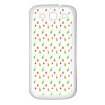 Fruit Pattern Vector Background Samsung Galaxy S3 Back Case (White) Front