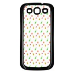 Fruit Pattern Vector Background Samsung Galaxy S3 Back Case (Black) Front
