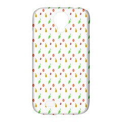 Fruit Pattern Vector Background Samsung Galaxy S4 Classic Hardshell Case (PC+Silicone)