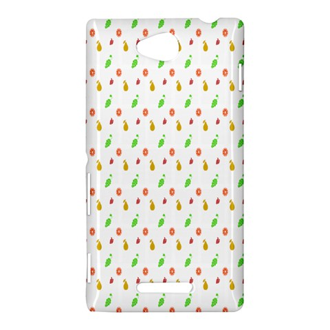 Fruit Pattern Vector Background Sony Xperia C (S39H)