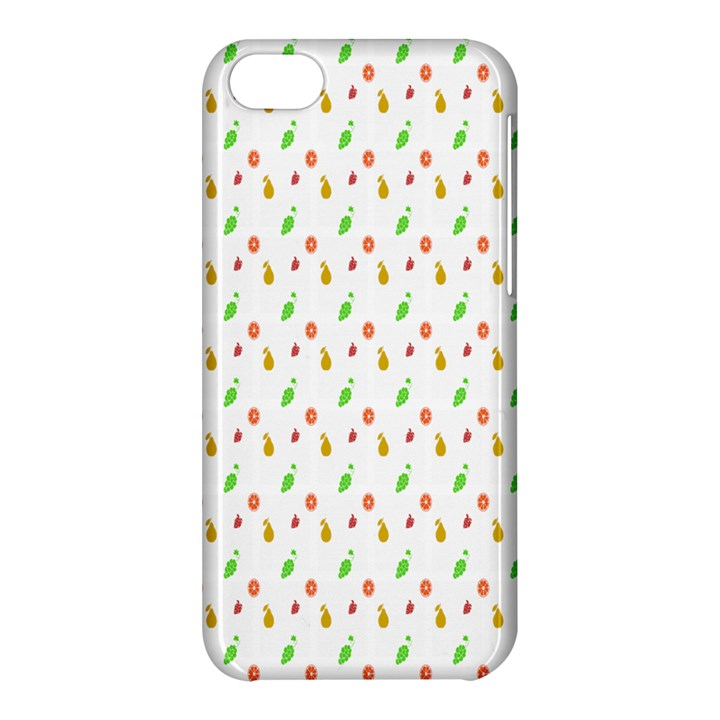 Fruit Pattern Vector Background Apple iPhone 5C Hardshell Case