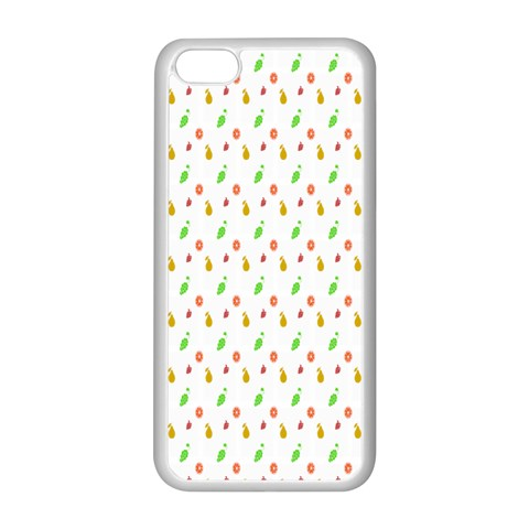 Fruit Pattern Vector Background Apple iPhone 5C Seamless Case (White)