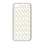 Fruit Pattern Vector Background Apple iPhone 5C Seamless Case (White) Front