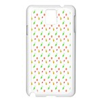 Fruit Pattern Vector Background Samsung Galaxy Note 3 N9005 Case (White) Front