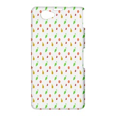 Fruit Pattern Vector Background Sony Xperia Z1 Compact