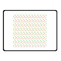 Fruit Pattern Vector Background Double Sided Fleece Blanket (Small)