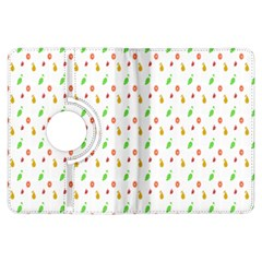 Fruit Pattern Vector Background Kindle Fire HDX Flip 360 Case