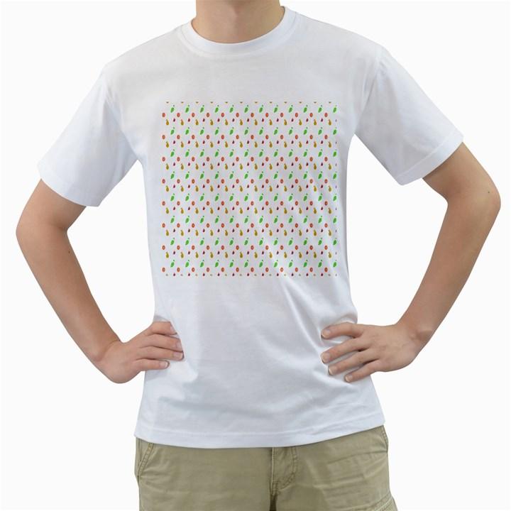 Fruit Pattern Vector Background Men s T-Shirt (White)