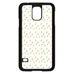 Fruit Pattern Vector Background Samsung Galaxy S5 Case (Black) Front
