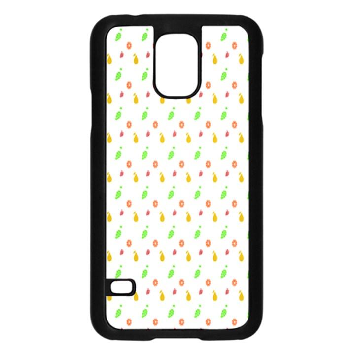 Fruit Pattern Vector Background Samsung Galaxy S5 Case (Black)