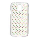 Fruit Pattern Vector Background Samsung Galaxy S5 Case (White) Front
