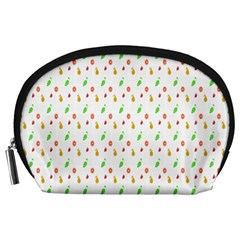 Fruit Pattern Vector Background Accessory Pouches (Large)