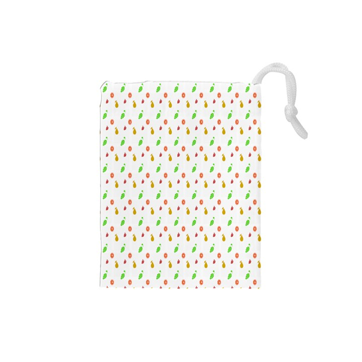 Fruit Pattern Vector Background Drawstring Pouches (Small)