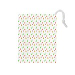 Fruit Pattern Vector Background Drawstring Pouches (Medium)  Front