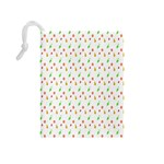 Fruit Pattern Vector Background Drawstring Pouches (Medium)  Back