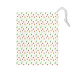 Fruit Pattern Vector Background Drawstring Pouches (Large)  Front