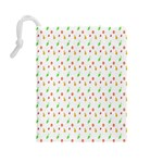 Fruit Pattern Vector Background Drawstring Pouches (Large)  Back