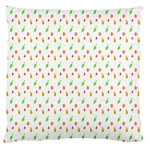 Fruit Pattern Vector Background Standard Flano Cushion Case (Two Sides)