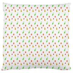 Fruit Pattern Vector Background Large Flano Cushion Case (Two Sides)