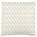Fruit Pattern Vector Background Large Flano Cushion Case (Two Sides) Back