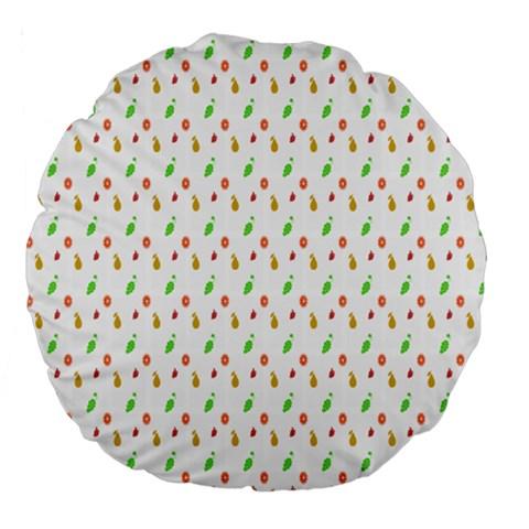 Fruit Pattern Vector Background Large 18  Premium Flano Round Cushions