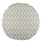 Fruit Pattern Vector Background Large 18  Premium Flano Round Cushions Front