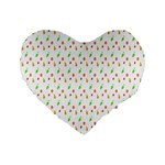 Fruit Pattern Vector Background Standard 16  Premium Flano Heart Shape Cushions Front