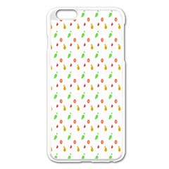 Fruit Pattern Vector Background Apple iPhone 6 Plus/6S Plus Enamel White Case