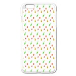 Fruit Pattern Vector Background Apple iPhone 6 Plus/6S Plus Enamel White Case Front