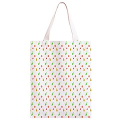 Fruit Pattern Vector Background Classic Light Tote Bag