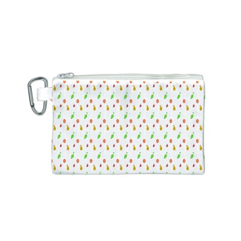Fruit Pattern Vector Background Canvas Cosmetic Bag (S)