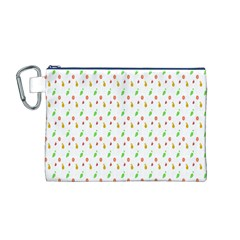 Fruit Pattern Vector Background Canvas Cosmetic Bag (M)