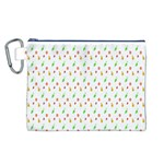 Fruit Pattern Vector Background Canvas Cosmetic Bag (L) Front