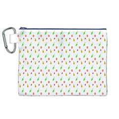 Fruit Pattern Vector Background Canvas Cosmetic Bag (XL)