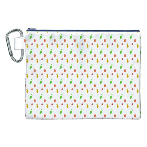 Fruit Pattern Vector Background Canvas Cosmetic Bag (XXL)