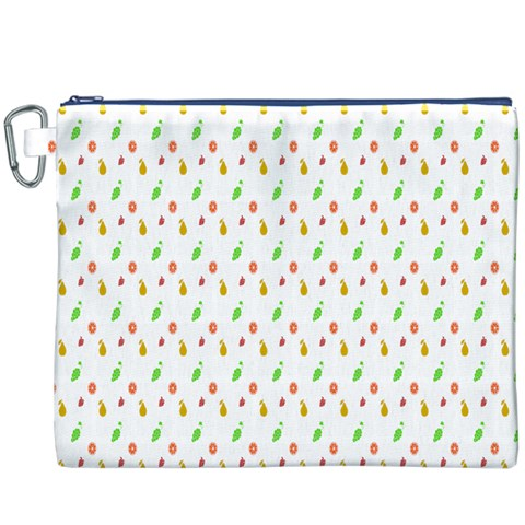 Fruit Pattern Vector Background Canvas Cosmetic Bag (XXXL)
