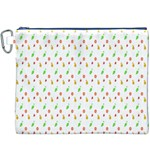 Fruit Pattern Vector Background Canvas Cosmetic Bag (XXXL) Front