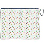 Fruit Pattern Vector Background Canvas Cosmetic Bag (XXXL) Back