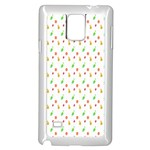 Fruit Pattern Vector Background Samsung Galaxy Note 4 Case (White) Front