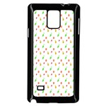 Fruit Pattern Vector Background Samsung Galaxy Note 4 Case (Black) Front