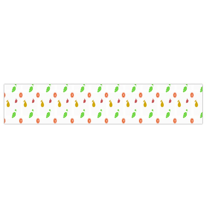 Fruit Pattern Vector Background Flano Scarf (Small)