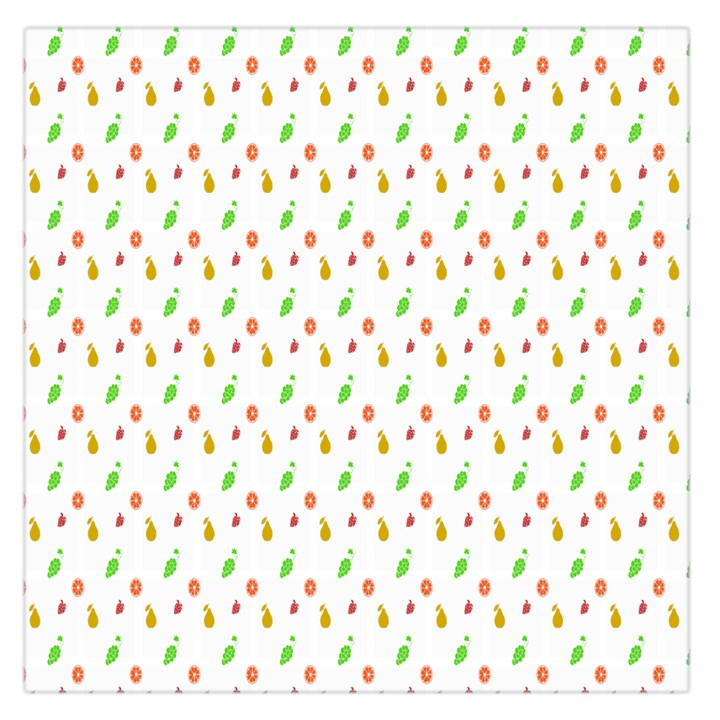 Fruit Pattern Vector Background Large Satin Scarf (Square)
