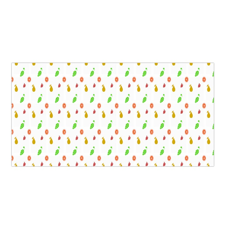 Fruit Pattern Vector Background Satin Shawl