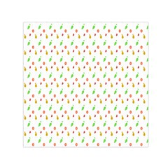 Fruit Pattern Vector Background Small Satin Scarf (Square)
