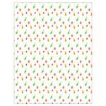 Fruit Pattern Vector Background Drawstring Bag (Large) Back