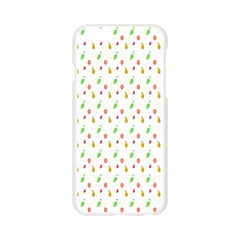 Fruit Pattern Vector Background Apple Seamless iPhone 6/6S Case (Transparent)
